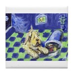 Soft Coated Mischief Tile Coaster