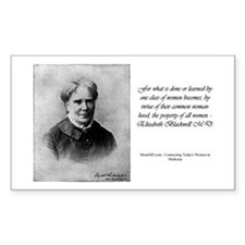 Rectangle Sticker - Elizabeth Blackwell