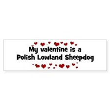 Polish Lowland Sheepdog valen Bumper Bumper Sticker