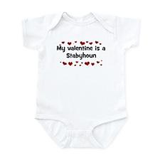 Stabyhoun valentine Infant Bodysuit