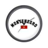 Montenegro Flag Wall Clock