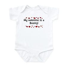 Basenji valentine Infant Bodysuit