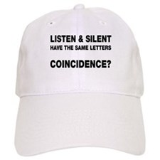 Listen and Silent Baseball Cap