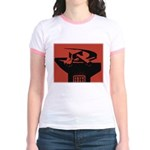 Stylish Hammer & Sickle Jr. Ringer T-Shirt