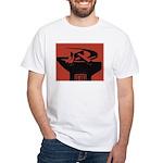 Stylish Hammer & Sickle White T-Shirt