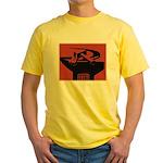 Stylish Hammer & Sickle Yellow T-Shirt