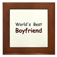 World's Best Boyfriend Framed Tile
