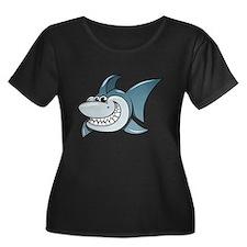 Cartoon Shark Plus Size T-Shirt