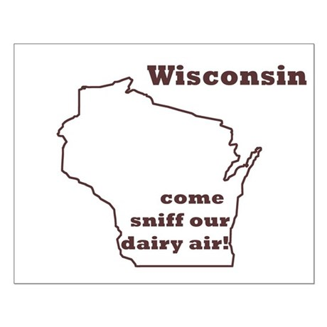 Wisconson Dairy Air Small Poster