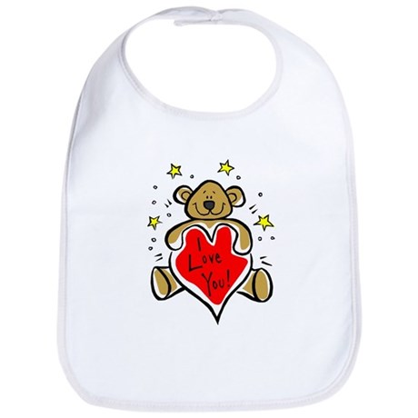 I Love You Bear Bib