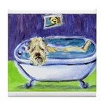 SOFT COATED WHEATEN TERRIER Bath Tile Coaster