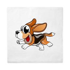 Cartoon Beagle Queen Duvet