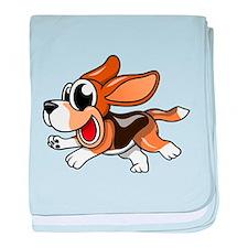 Cartoon Beagle baby blanket