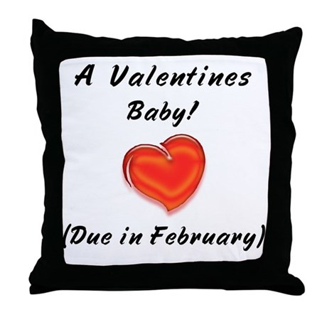 Valentines baby Throw Pillow