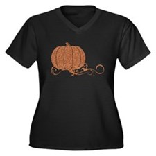 Halloween Pumpkin 2 Women's Plus Size V-Neck Dark