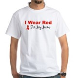 I Wear Red For My Mom Shirt