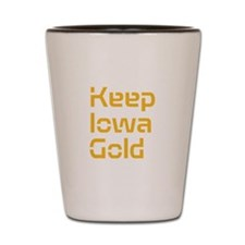 Keep Iowa Gold Shot Glass