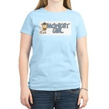 Monkey Girl Women's Pink T-Shirt