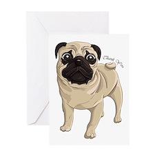 Pug Thank You Greeting Card