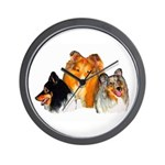 Sheltie Wall Clock