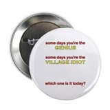 "Genius/Idiot 2.25"" Button (100 pack)"