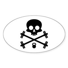Skull and Cross Fitness Decal