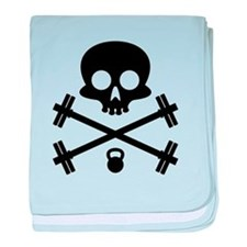 Skull and Cross Fitness baby blanket