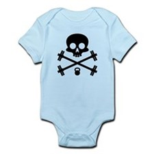 Skull and Cross Fitness Infant Bodysuit