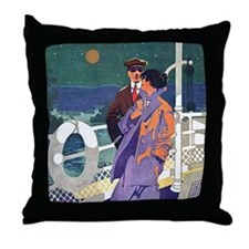 Art Deco Cruise Throw Pillow