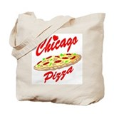 Love Chicago Pizza Tote Bag