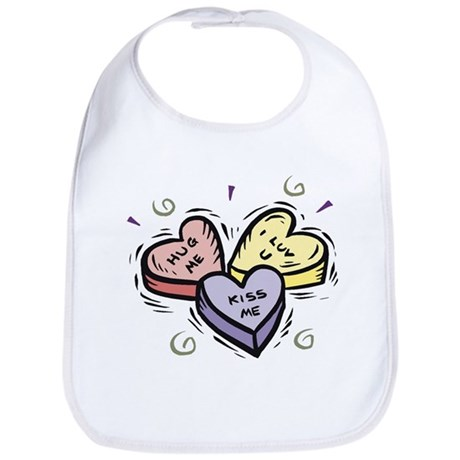 Conversation Hearts Bib