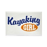 Kayaking Girl Rectangle Magnet