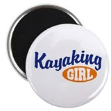Kayaking Girl Magnet
