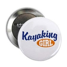 Kayaking Girl Button