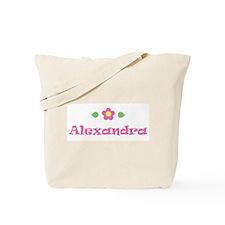 "Pink Daisy - ""Alexandra"" Tote Bag"