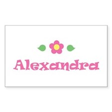 "Pink Daisy - ""Alexandra"" Rectangle Decal"