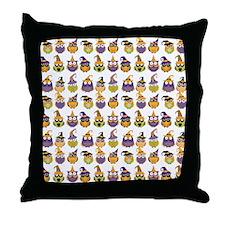 Funny Halloween Owls Throw Pillow