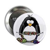 Knitting Penguin Button