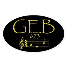GEB Oval Decal