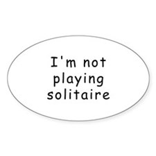 Solitaire Oval Decal