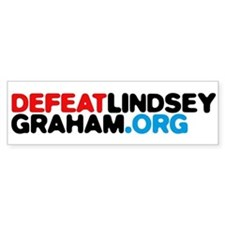 DefeatLindseyGraham.org Car Sticker