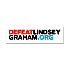DefeatLindseyGraham.org Car Magnet 10 x 3
