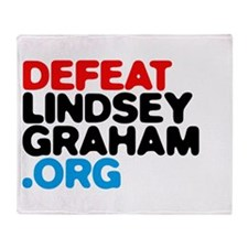 DefeatLindseyGraham.org Throw Blanket