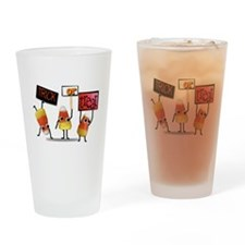 Cute candy corns Drinking Glass
