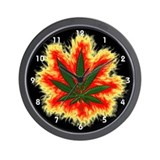 Pot Leaf Wall Clock