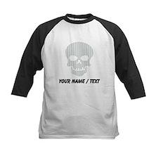 Custom Skull Vertical Stripes Baseball Jersey