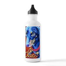 Dachshund Pastel Sports Water Bottle