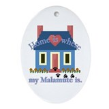 Home Alaskan Malamute Oval Ornament