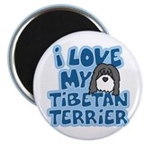 I Love my Tibetan Terrier Magnet