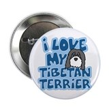"I Love my Tibetan Terrier 2.25"" Button"